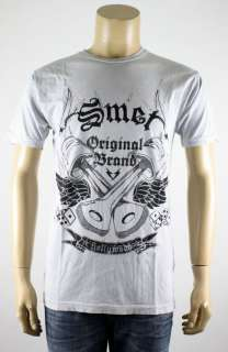 NEW SMET BY CHRISTIAN AUDIGIER LIGHT GRAY T SHIRT M