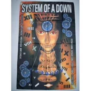 SOAD/SYSTEM OF A DOWN 5x3 Feet Cloth Textile Fabric Poster