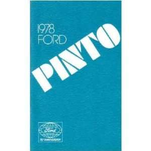 1978 FORD PINTO Owners Manual User Guide Automotive