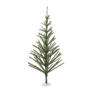 Scanty Whimsical Green Tinsel Unlit Christmas Tree