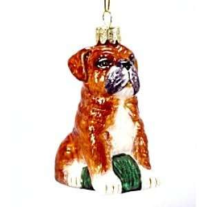 Kurt Adler Noble Gems Bulldog Glass Ornament Everything