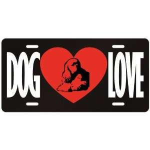 New  Love American Cocker Spaniel  License Plate Dog