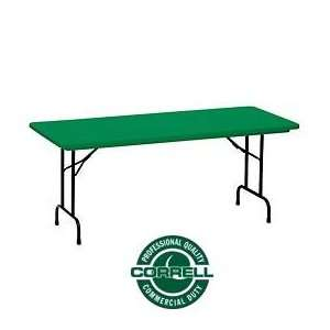 Blow Molded Commercial Duty Folding Table 30 X 72, Green