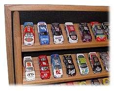 Oak Diecast Display Case open   9  124th Custom Colors