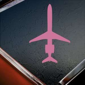 McDonnell Douglas MD 83 Pink Decal Truck Window Pink
