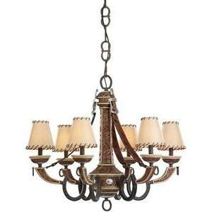 Monte Carlo Fan DO6CHWI 6 Light Durango Chandelier, Weathered Iron