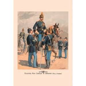 Enlisted Men, Cavalry & Infantry (Full Dress) 20X30 Canvas