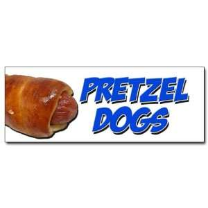 36 PRETZEL DOGS DECAL sticker soft pretzel hot dog