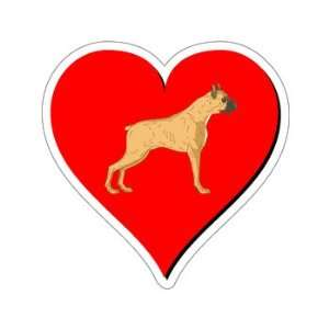 Boxer Love   Window Bumper Sticker Automotive