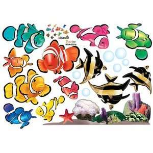 Under the Sea Tropical Fish   Reusable Easy Instant Decoration Wall
