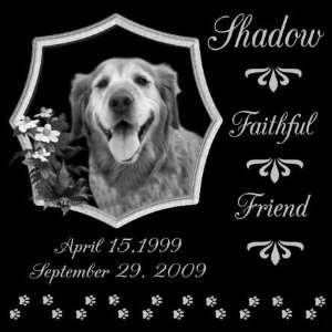 12 x 12 Lazer Gifts Personalized Faithful Friend Black Granite Pet