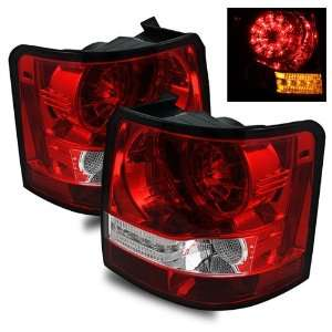 06 09 Land Rover Range Rover Sport Red/Clear LED Tail