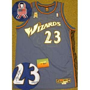 Michael Jordan Signed Wizards Jersey w/ribbon LE275 UDA