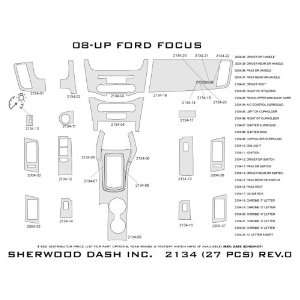 FORD FOCUS 2008 2009 2010 2011 Deluxe Wood Dash Trim Kit
