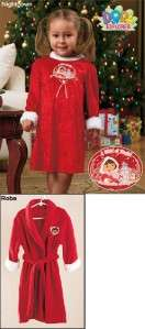 The Explorer Girls Fleece Red Christmas Robe Size Large 6/6X