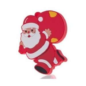 32gb Santa Claus Cartoon USB 2.0 Flash Memory Drive   Red