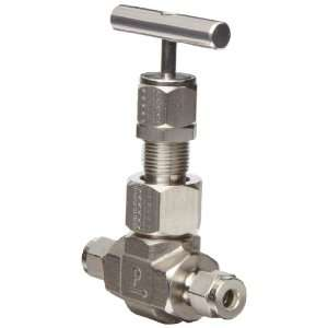 Parker U Series Stainless Steel 316 Needle Valve, Inline, T Bar Handle