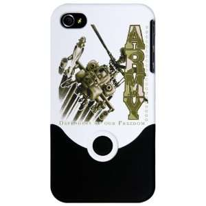 iPhone 4 or 4S Slider Case White Army US Military Defenders Of Our