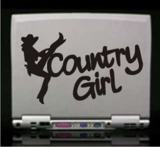 Country Girl Cowgirl Decal Sticker   Car Laptop RV