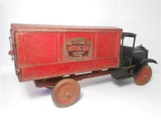 Keystone Packard Long Distance Moving Van Pressed Steel Truck 1920s