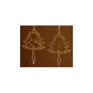 Club Pack of 24 Natures Noel Wooden Christmas Tree