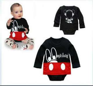 Boy Baby Clothes Minnie Mickey Mouse Set Cotton Romper 0 24M