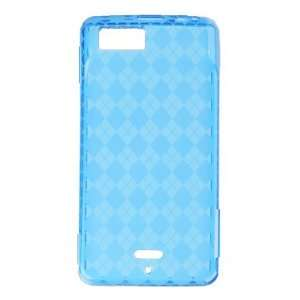 Blue Plaid Checker Soft Crystal Tpu Skin Gel Cover Case