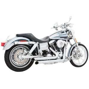 Declaration Turn Out Chrome Exhaust for 2006 2011 Harley Davidson Dyna