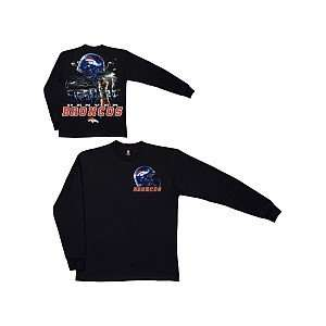 Liquid Blue Denver Broncos Sky Helmet Long Sleeve T Shirt Extra Large