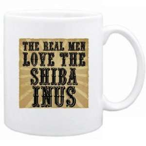 New  The Real Men Love The Shiba Inus  Mug Dog
