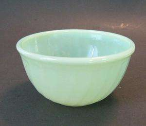 RARE Fire King Jadeite Jadite Glass Swirl 5in Mixing Bowl Perfect to