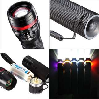 240 Lumen LED Zoomable Light Flashlight Torch Zoom Adjustable 3W Lamp