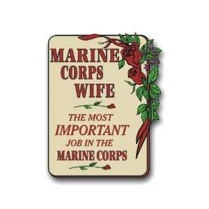 US Marine Pride Marine Corps Wife Decal Sticker 3.8