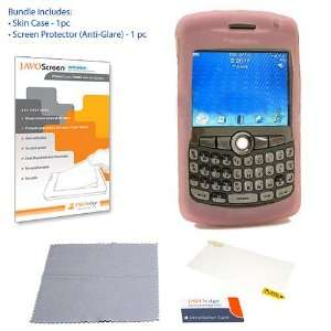 Case (Pink) + Anti Glare Screen Protector Cell Phones & Accessories