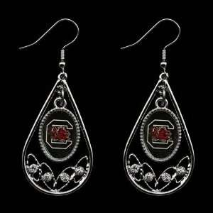 NCAA South Carolina Gamecocks Ladies Tear Drop Crystal