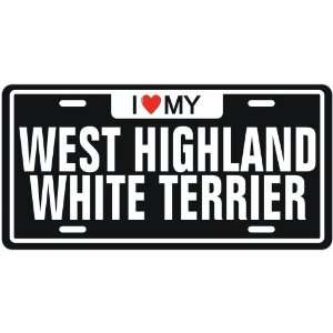 WEST HIGHLAND WHITE TERRIER  LICENSE PLATE SIGN DOG
