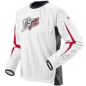 Fox Racing Shortcut Jersey   2008   Large/White/Red Automotive