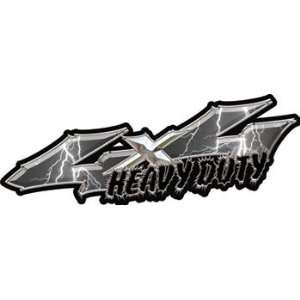 Series 4x4 Heavy Duty Truck Decals in Lightning Gray Automotive