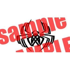 SPIDER 2 TRIBAL WHITE VINYL DECAL STICKER
