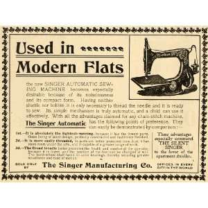 Ad Singer Sewing Clothing Machine Stitch Needle   Original Print Ad