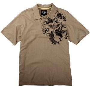 Fox Racing Warlock Polo   Large/Dark Khaki Automotive