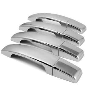 8 PCs Triple Chrome Door Handle Cover Trim For Land Rover