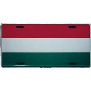 Hungary Country Flag Embossed Metal License Plate Auto Car