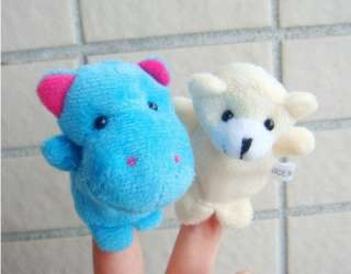 10 Plush Animal Finger Puppets Baby Dolls Boy Girl Party Gift D006