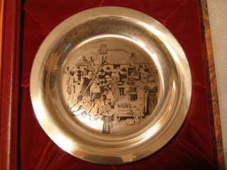 72 Franklin Mint Stevan Dohanos Thanksgiving Plate. 5.23 troy oz pure
