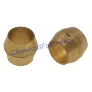 25 Brass Compression Fitting Sleeves 3/16 Automotive