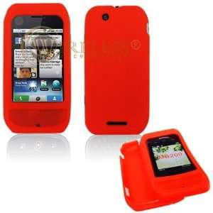 Red Soft Silicone Gel Skin Cover Case for Motorola Cliq MB200 [Beyond