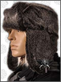 AM806 Soft Warm Winter Russian Faux Fur Mens Hat Cap