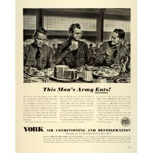 1941 Ad York Air Conditioning Refrigeration WWII Army