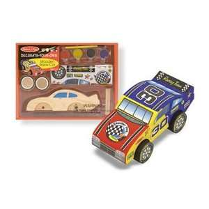 Wooden Race Car to Decorate Yourself   (Child) Baby